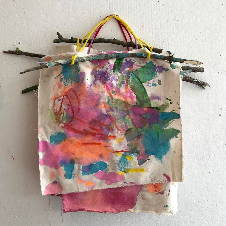 If I had to pick a favorite material for toddlers, it would probably be fabric. This canvas held up to tempera, liquid watercolor, sponging, washing, paint stick scrawling, and more. I loved seeing these transform week to week in Friday Mini Makers, our class for ages 17 months-2.5 yrs. We still have 3 weeks left, but next session starts the week of Sept 20! You can sign up on the website, link at the top!
