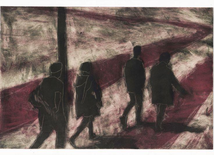 "Silvia Rocchi (Italy) ""3"" 17.5 x 20 cm etching"