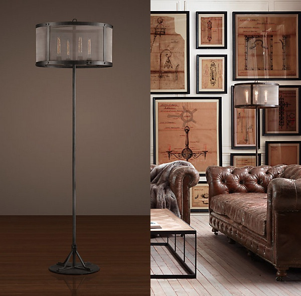 Want it riveted mesh floor lamp 595 sale 475 for When is restoration hardware lighting sale