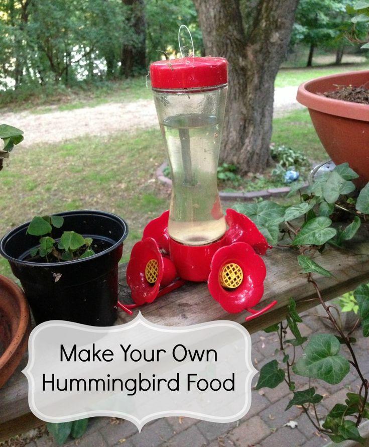 How to Make Your Own Hummingbird Food #birds #DIY