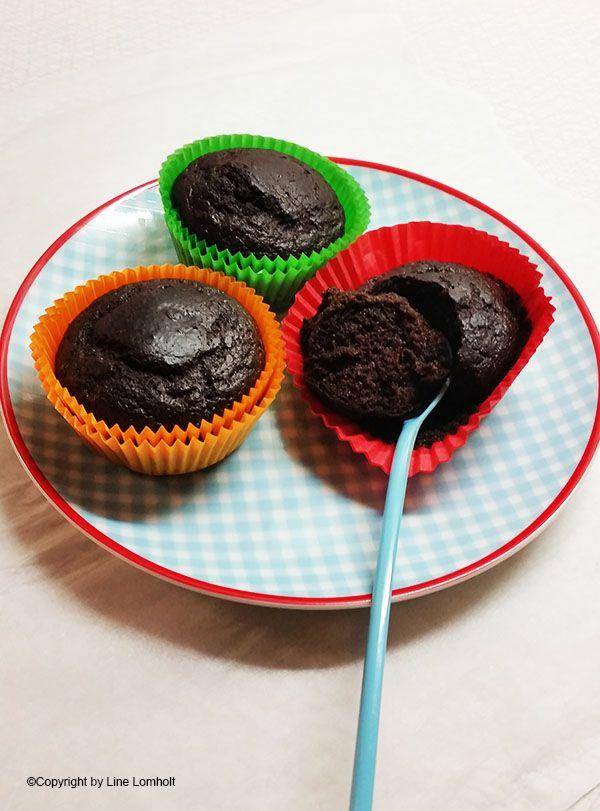 Chokolade muffins uden sukker og gluten - med sorte bønner1