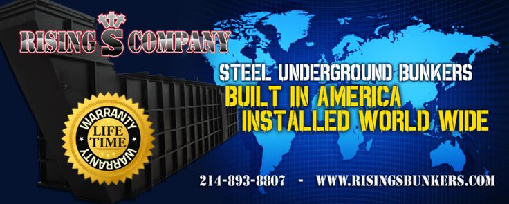 Underground bunkers and Survival Shelters from the worlds foremost custom bunker builders Rising S Bunkers