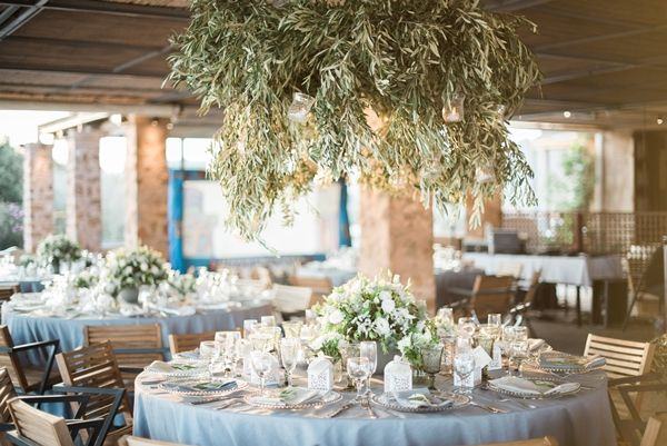 Olive branch theme wedding in Athens | Classy Sounio wedding