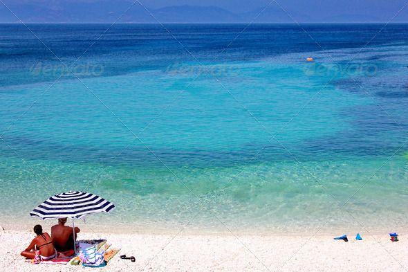 Enjoying Blue Sea Horizon