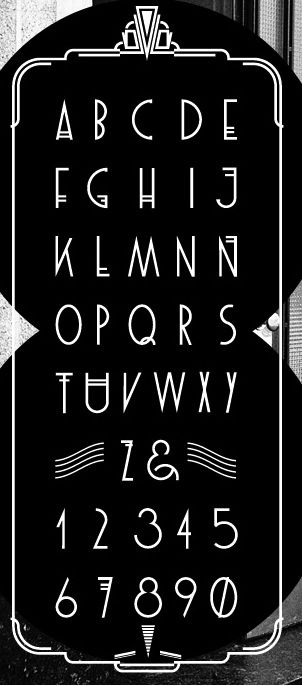 Häufig 17 best Fonts images on Pinterest | Art deco typography, Art deco  LS36