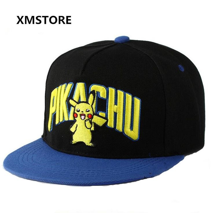 2017 New High Quality Cotton Anime Pokemon Pikachu Baseball Cap Men Women Mobile Game Pokemon Go Snapback Hat Hip Hop Caps W152