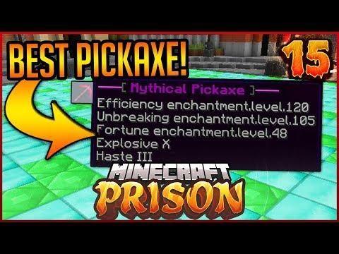 Minecraft OP Prison Break: THE BEST PICKAXE!! | Episode 15