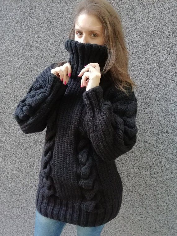 another chance 572f5 1daab 2-3 kg Ready to ShipHand Knitted Mohair black wool Sweater ...