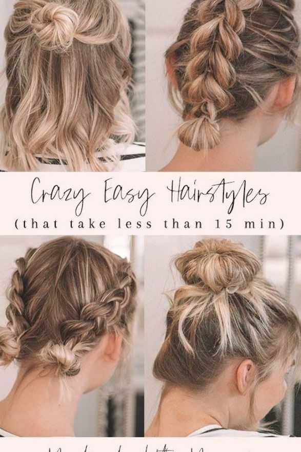 Easy Hairstyles Hairstyles For Medium Hair Easy Hairstyle Hacks Hair Hacks Medium Hair How To Style Hair Braid Styles Di 2020 Warna Rambut Kepang Trik Kecantikan