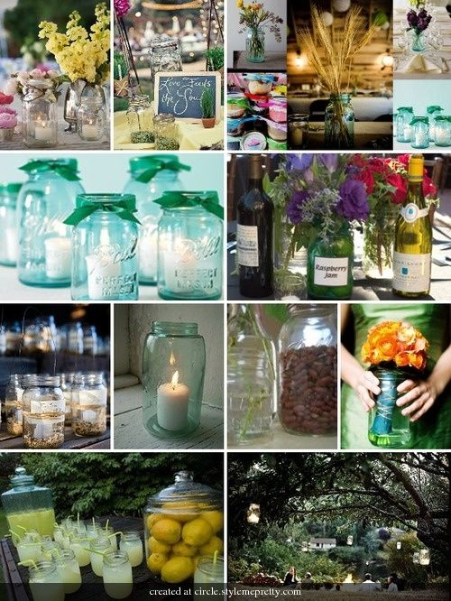 mason jar ideas #rustic #southern #wedding - I don't want my wedding country, but I do want it southern!