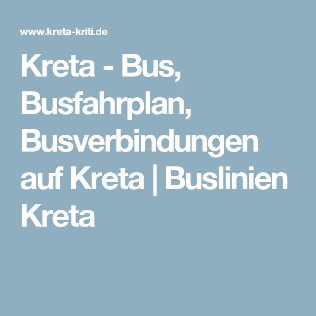 Kreta - Bus, Busfahrplan, Busverbindungen auf Kreta | Buslinien Kreta