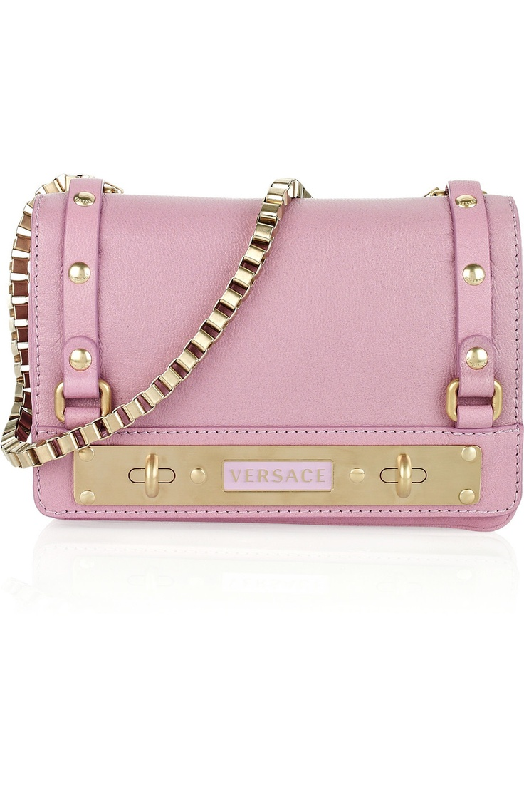 Versace: Fashion, Versace Bag, Clutches, Design Handbags, Leather Shoulder Bags, Pink, Versace Leather, Leather Bags, Bags Ladies