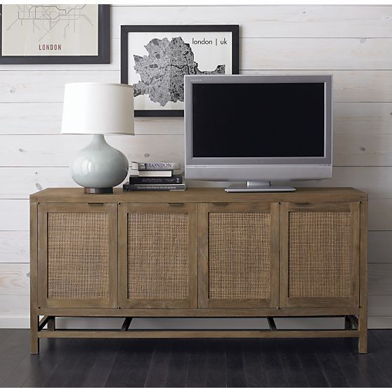 "Blake Grey Wash 68"" Media Console in Media Stands & Consoles 