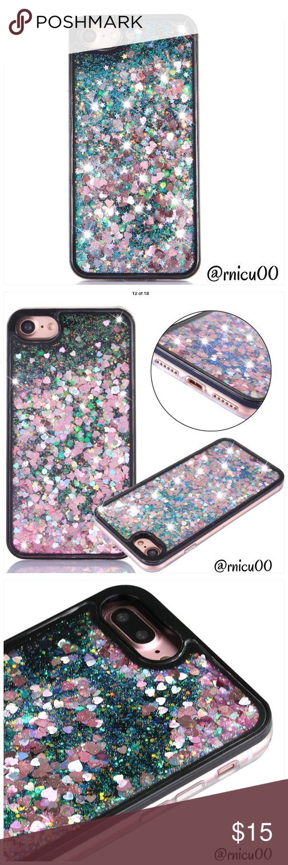 """Pink Heart Liquid Glitter iPhone Hardback Case! • Fits iPhone 6+ • 3D Liquid Glitter Quicksand  • Shockproof Hard Case Cover • Fitted case- Protects Phone from scratches, damage, dust & dirt • Access to all Buttons without removal   ➖Prices Firm, Bundle for Discount ➖""""Trade"""" & Lowball Offers will be ignored ➖Sales are Final, Please read Description & Ask Any Questions! Boutique Accessories Phone Cases"""