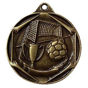 Medalla genérica ref Fútbol copa en oro envejecido