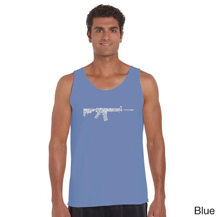 AR15 2nd Amendment Men's Word Art Tank Top