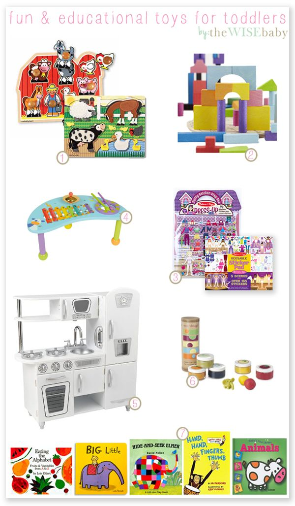 Fun and Educational Toddler Toys (via Lindsey from The Wise Baby)