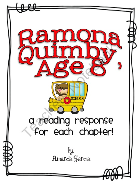 Worksheet Ramona Quimby Age 8 Worksheets 1000 ideas about ramona quimby on pinterest beverly cleary age 8 by reading responses product from sweet and