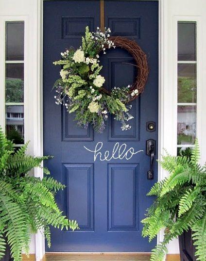 WREATH, GroopDealz | Hello and Welcome Door Decals