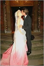 Gwen Stefani Dip Dyed Ombre Wedding Dress
