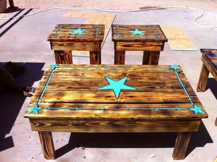 21 best western end tables images on pinterest | western furniture