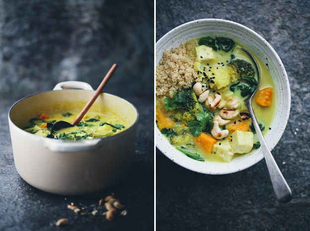 Curry with Broccoli & Sweet Potato | 20 Vegetarian Broccoli Recipes You Definitely Need To Try