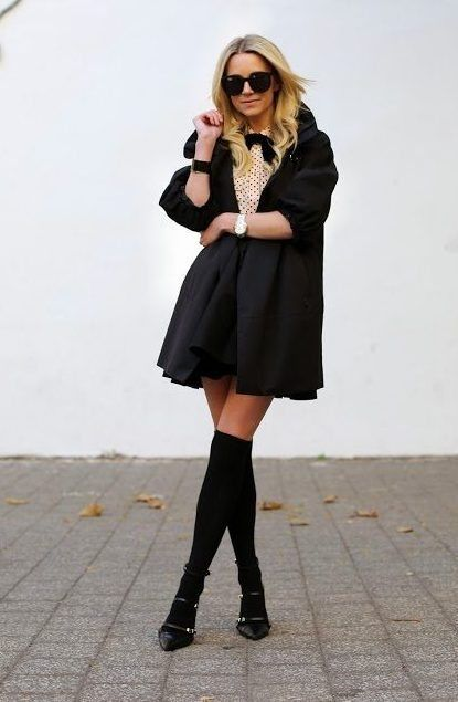 6-cute-outfit-with-socks-and-heels