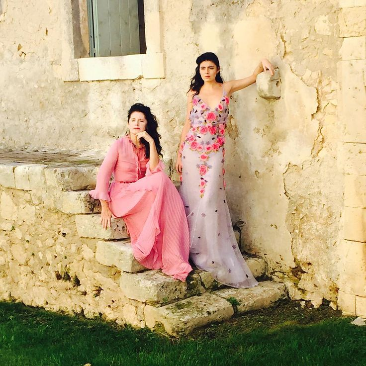 Mother and daughter Dream duo Luisa Beccaria and Lucilla Bonaccorsi, designers of Luisa Beccaria, wearing #luisabeccaria_ss16 SS16  dreamy dresses in Sicily.