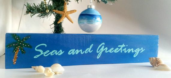 Seas+and+Greetings+Sign+Beach+Christmas+Decor+by+SunStroked