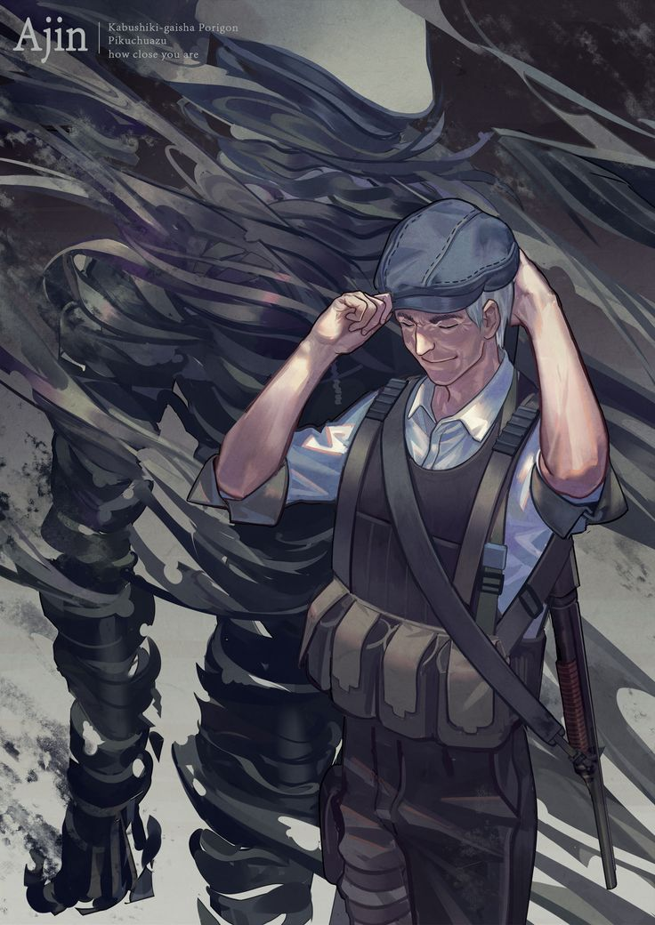 Satou - Ajin (This man has to be one of the most epic anime villians of all time. )