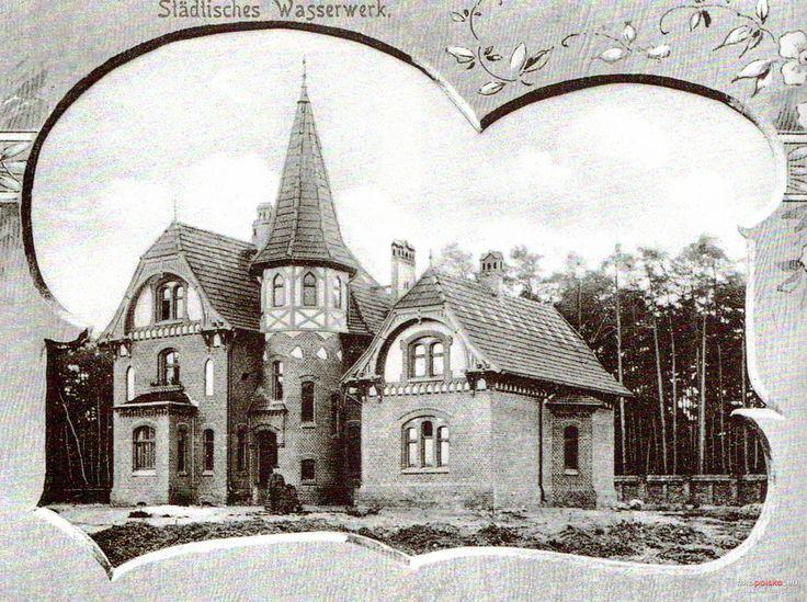 Stacja wodociągów Las Gdański (Stätliche Wasserwerk), Bydgoszcz - 1900 rok, stare zdjęcia