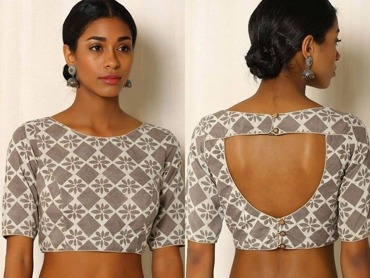 Simple Blouse Back Neck Design Images