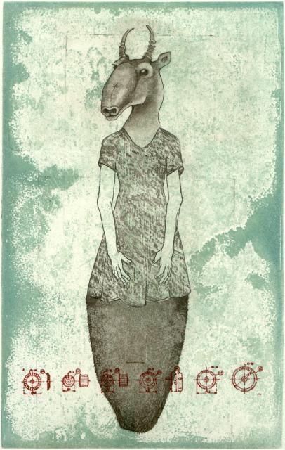 Piia Lehti: Amanda, etching, 2004