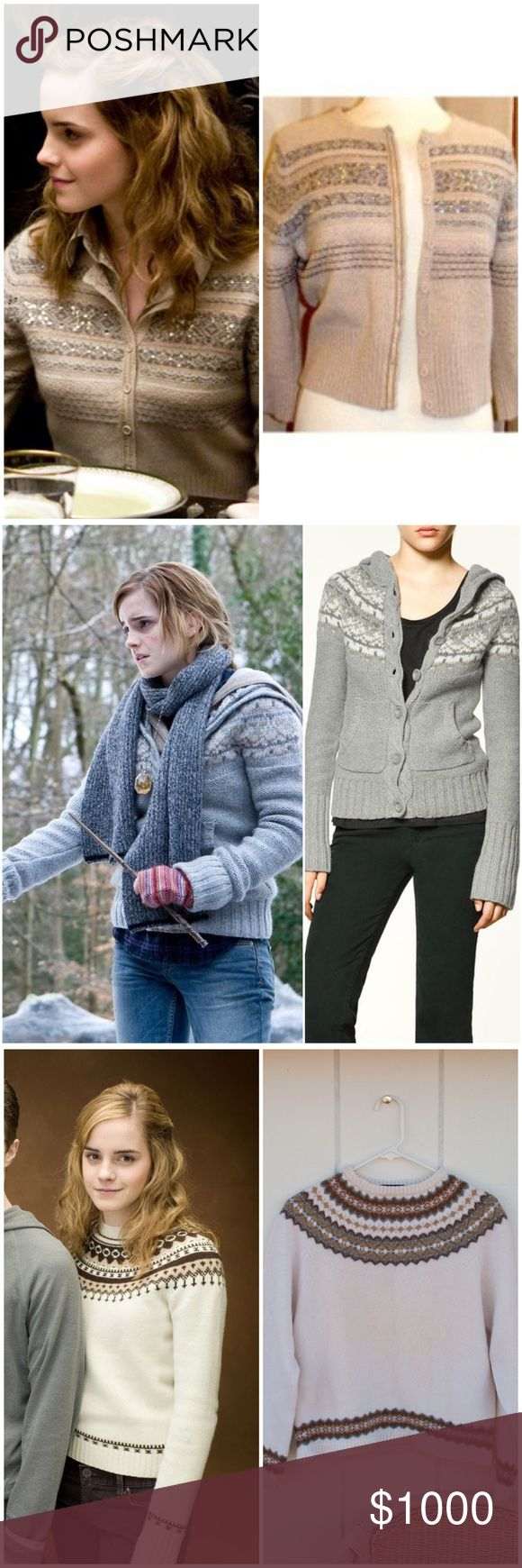 ISO Hermione Granger from Harry Potter, SA items Hi! I'm currently in search of these SA Hermione Granger items! Any help finding her clothes, accessories, bags, shoes, etc. would really help me out in my Harry Potter trio cosplay! This has been an ongoing search for 7 years, so any help finding these would be much appreciated!  ISO: - Next Cream Fairisle Sequin Cardigan - Zara Grey Fairisle Knitted Cardigan - Gap Fairisle Jumper - Next Grey Ribbed Neck Cardigan - Gryffindor Crest T-shirt…