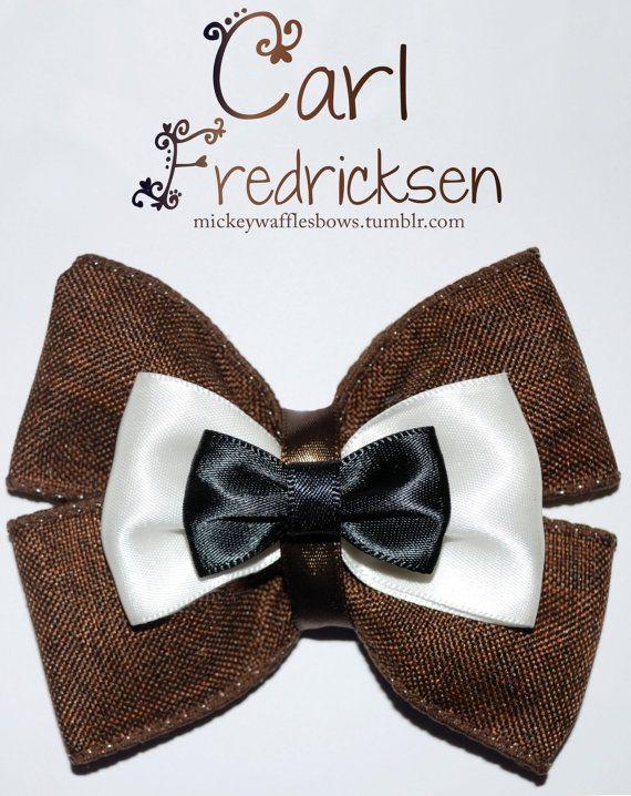 Carl Fredricksen from Pixar's Up bow! https://www.etsy.com/shop/MickeyWaffles?ref=si_shop