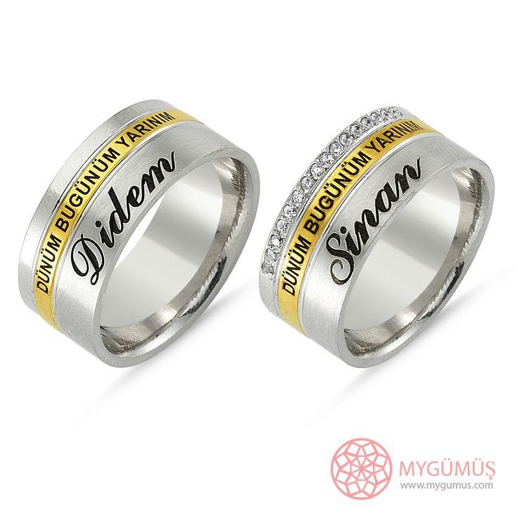 Gümüş Alyans MYA1013   #gümüş #alyans #çelik #yüzük #ring #wedding #evlilik #düğün #söz #nişan #mygumus #mygumuscom #çift #erkek #kadın #woman #man #moda #takı #jewellry