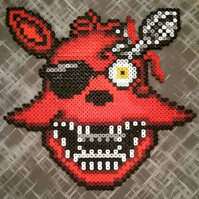 Foxy – Five Nights at Freddy's hama beads by 8bit_tonitots