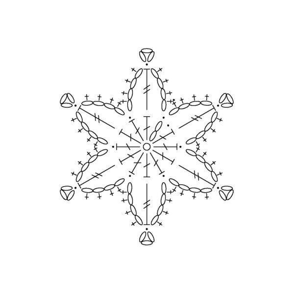 Häkelsteno für kleine Schneeflocke