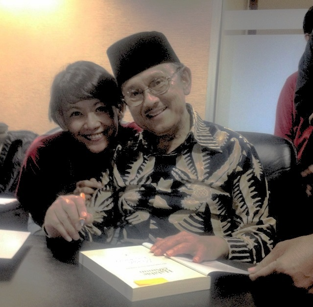 With the Author H Prof Dr BJ Habibie, love the spirit sir