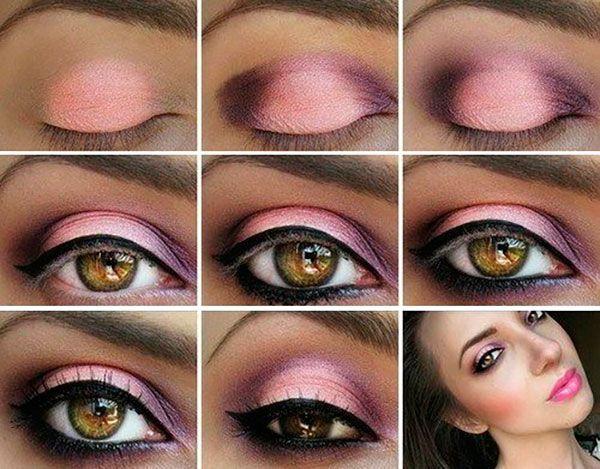 Схема макияжа круглых глаз