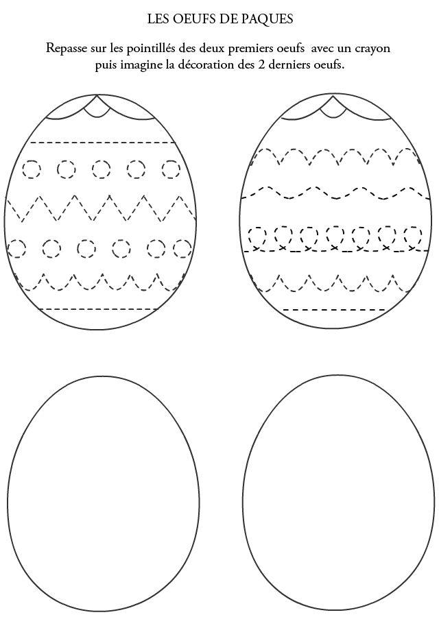 Graphisme, les oeufs de Pâques à décorer - Turbulus, jeux gratuits pour enfants
