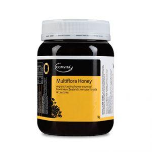 Mierea multiflora Comvita e ideala pentru micul dejun sau ca inlocuitor de zahar. Magazin online cu produse cosmetice bio Centifolia si miere Manuka.