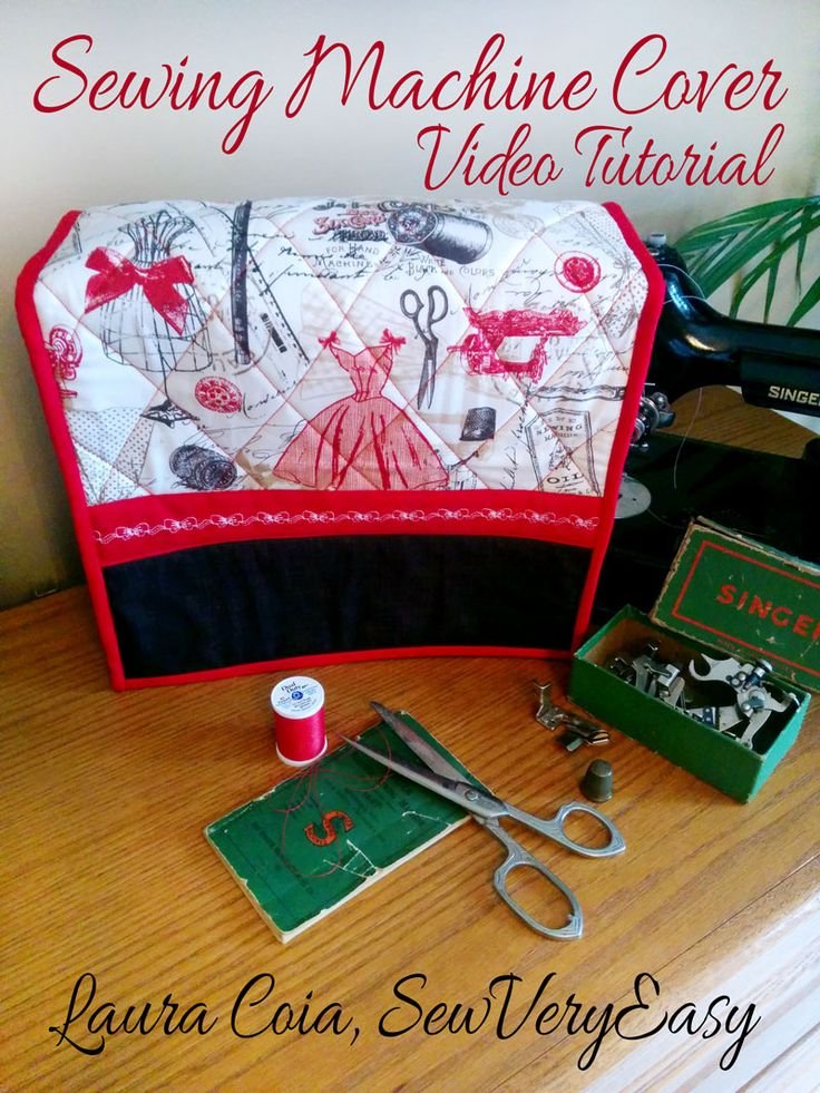 Timeless Treasures | Vintage Dressmaking Sewing Machine Cover Tutorial