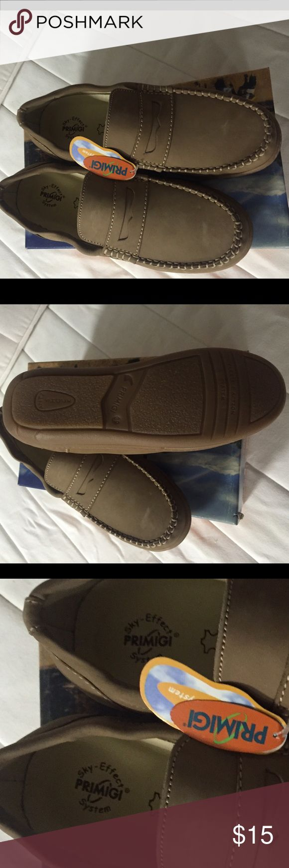 Primigi  shoes Very comfortable tan  shoes. New in a box Primigi Shoes Moccasins