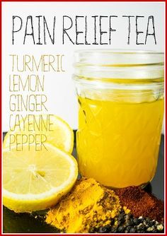 Herbal Pain Relief Tea to Knockout Joint Pain, Aches and Inflammation. Drinking tea made from a blend of botanicals which contain active ingredients for pain relief can help reduce the ache naturally.