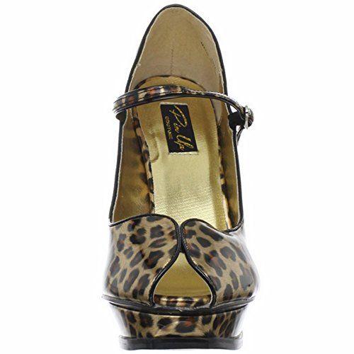 Pinup Couture Pleasure, Scarpe col tacco donna Gold Cheetah Print, Multicolore (Lack Leopard), 40 in OFFERTA su www.kellieshop.com Scarpe, borse, accessori, intimo, gioielli e molto altro.. scopri migliaia di articoli firmati con prezzi in SALDO #kellieshop Seguici su Facebook > https://www.facebook.com/pages/Kellie-Shop/332713936876989