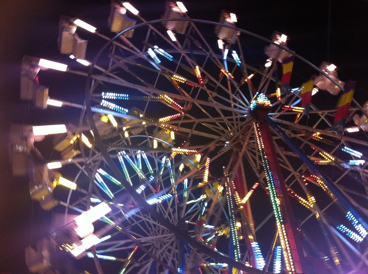 Florida State Fair Grounds #fair #florida #statefair #ferriswheel #lights #beautiful #tampa #2013 #loveit #love #fun #awesome #amazing #colors #color #sky #night #water #lake #beauty #dream #pinlove #rides