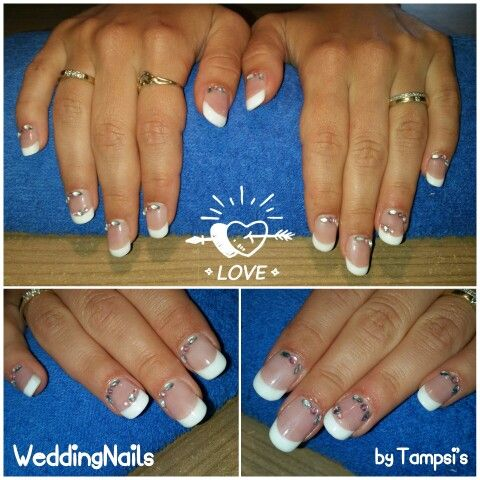 Wedding nails by Tampsi's