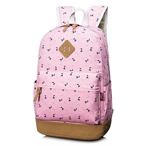 Student School Backpack College Bags Laptop 14''Bag for Girls - Deer Pink NEW #StudentSchoolBackpackCollegeBags
