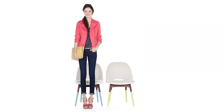 coral versino of classic motorcycle jacket..adorable for spring.  www.fossil.com